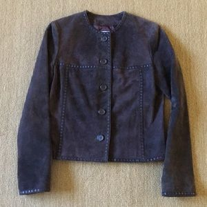 Michael Kors dark brown leather jacket